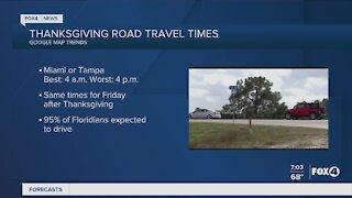 Thanksgiving road travel times
