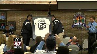 Detroit Tigers visit Lansing Police Department