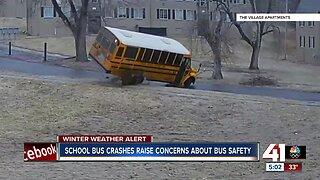 School bus crashes raise concerns about bus safety