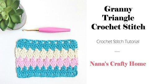 Granny Triangle Crochet Stitch Tutorial