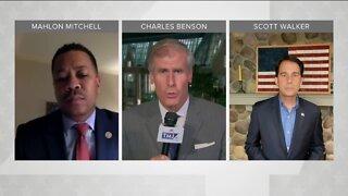 Political Panel: Scott Walker, Mahlon Mitchell discuss President Trump's visit to Wisconsin