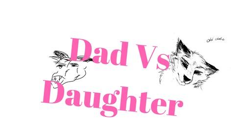 Dad tries to Draw Daughter Schools him! lol