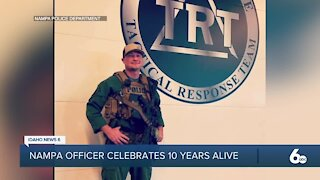 Nampa Officer celebrates 10 years alive