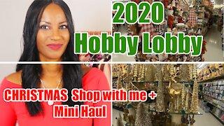 🎄 New 2020 Hobby Lobby 🎅Christmas Shop with Me + Mini Haul
