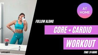 CORE + CARDIO follow along workout