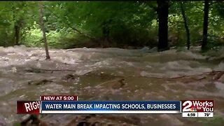 Water Main Break Impacting Schools, and Businesses
