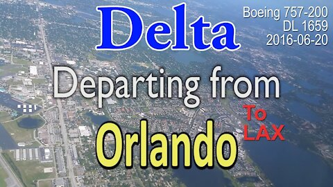 (Rare) Delta Boeing 757-200 departure from Orlando (MCO) #DL1659