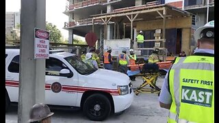 Worker rescued after high-rise construction accident in downtown West Palm Beach
