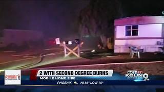 Resident, dog injured in southside mobile home blaze