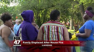 Family displaced after house fire