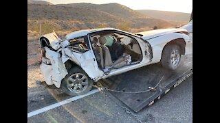 2 dead in a rollover crash outside of Las Vegas