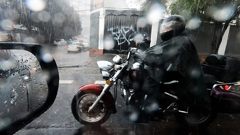 Freak hail storm pummels streets at the equator