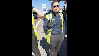 """Petrol Station Workers Berate Man For """"Abusing"""" Customers!"""