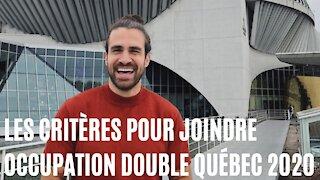 Voici ce que ça te prend pour faire Occupation Double Québec 2020