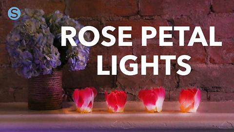 How to make flameless rose petal tea lights