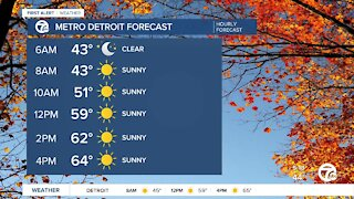 Metro Detroit Forecast: Bright fall day