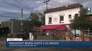 President Biden visits Colorado: Promoting 'Build Back Better' plan