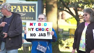 Protest in Olean over looming vaccine mandate for healthcare workers
