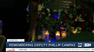 Community holds parade and vigil in honor of Deputy Campas