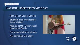 Palm Beach County Supervisor of Elections partners with school district for National Voter Registration Day