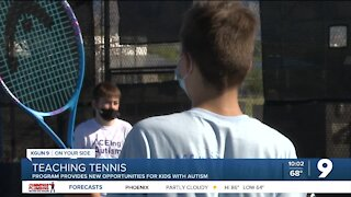 Tennis program provides new opportunities for kids with autism