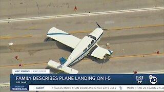 Family describes emergency landing on I-5