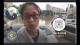 CGTN Report From Flood-Ravaged Zhengzhou