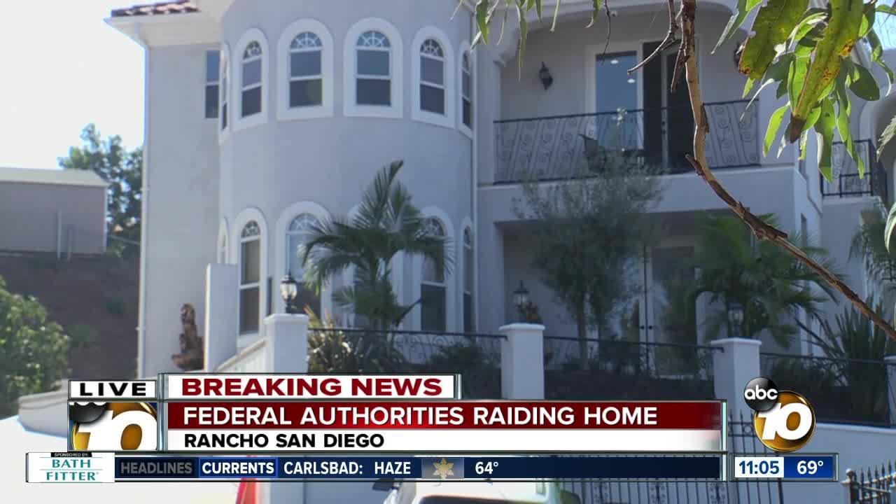 Federal authorities raid Rancho San Diego home