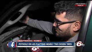Pothole damages more than two-dozen vehicles on I-65
