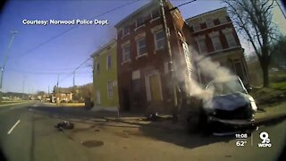 Body cam footage shows police pursuit that ended in serious crash