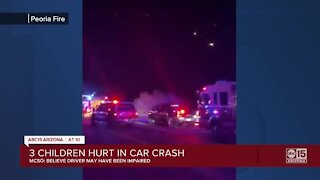 MCSO: Woman and 3 kids hospitalized after crash near Lake Pleasant