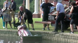 Christopher Columbus statue pulled from lake