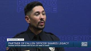 Partner of fallen Phoenix police officer shares legacy