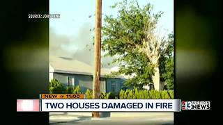 Two houses damaged in Downtown Las Vegas fire
