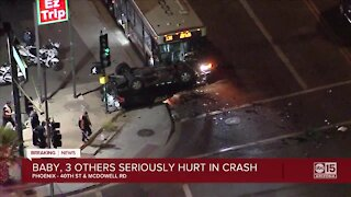 FD: 4 injured, including infant, in crash involving city bus at 40th Street and McDowell