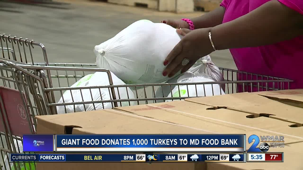 Giant Food donates 1,000 turkeys to Maryland Food Bank