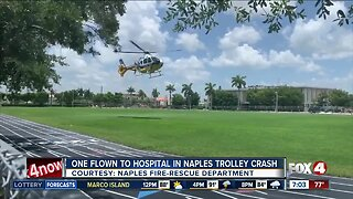 Trolley crash sends woman to the hospital in Naples