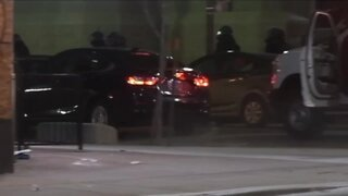 Driver plows into Denver police vehicle injuring officers, civilian