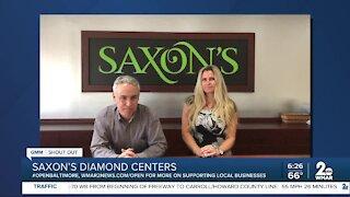 "Saxon's Diamond Centers says ""We're Open Baltimore!"""