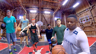 Barn Basketball Highlights: Crossovers, Side-Steps, and More.