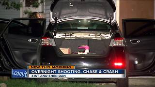 Milwaukee Police: 3 arrested after overnight shooting, chase, crash