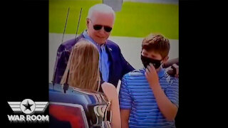 Biden Hands His Used Facemask To A Kid