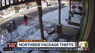 Northside neighbors share info in search of package thieves