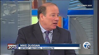 Then Candidate Mike Duggan speaks out against secret funds