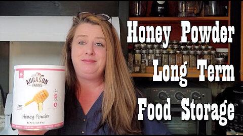 Augason Farms Honey Powder ~ Taste, Use & Storage