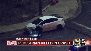 Pedestrian struck and killed by vehicle in Chandler