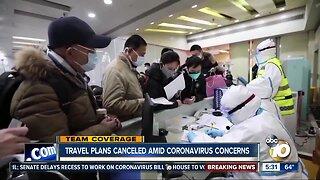 European travel plans canceled amid coronavirus concerns