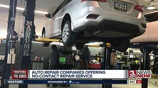 Auto repair shops offer no-contact service