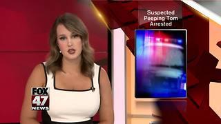 Police arrest suspected peeping Tom
