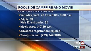 Cape Coral Yacht Club host poolside campfire night